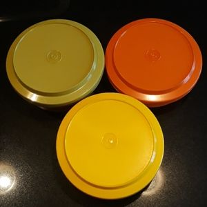 Vintage Tupperware Serve and Seal bowls